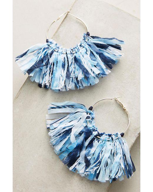 Mignonne Gavigan | Blue Woven Mary Hoop Earrings | Lyst