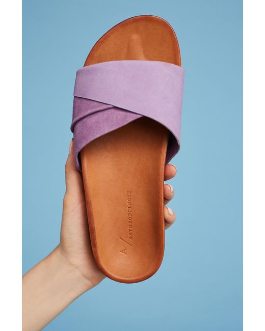 Anthropologie | Purple Twisted Pool Slides | Lyst