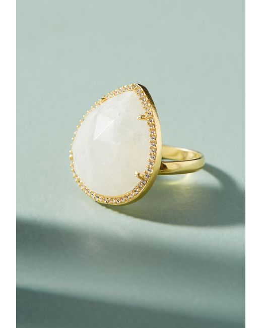 Anthropologie | White Victoria Cocktail Ring | Lyst