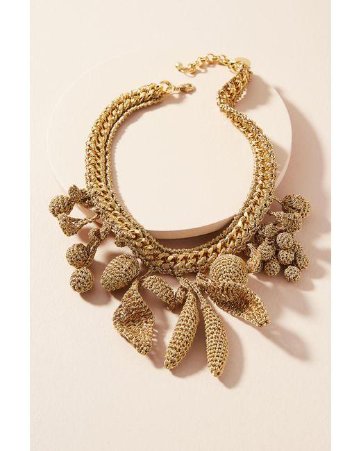 Venessa Arizaga   Metallic Crocheted Fruit Charm Collar Necklace   Lyst
