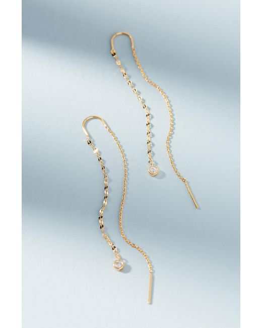 Anthropologie | Metallic Delicate Threader Earrings | Lyst