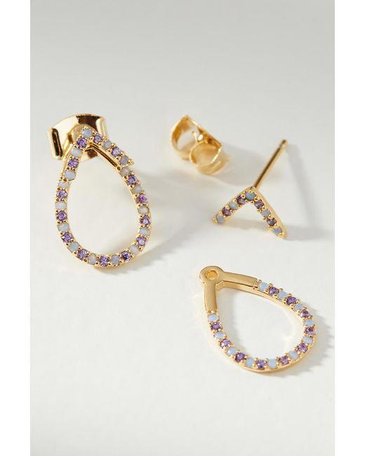 Anthropologie - Purple Meghan Teardrop Post Earrings - Lyst