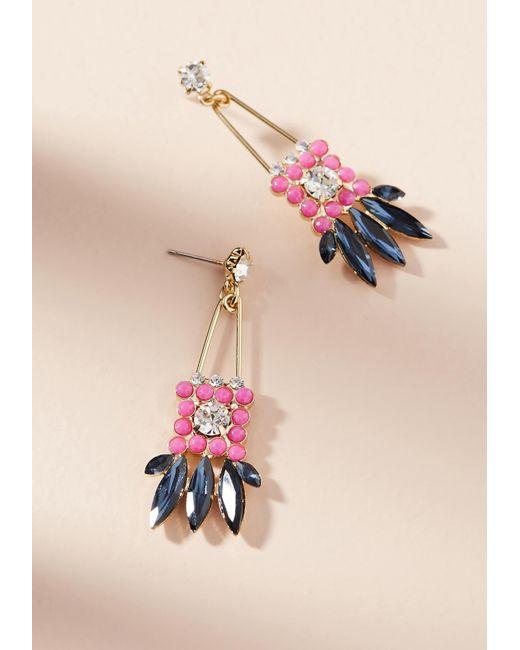 Zenzii | Pink Leilani Drop Earrings | Lyst