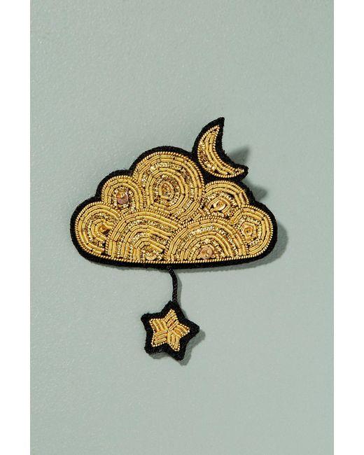 Macon & Lesquoy   Metallic Cloud Star Pin Badge   Lyst