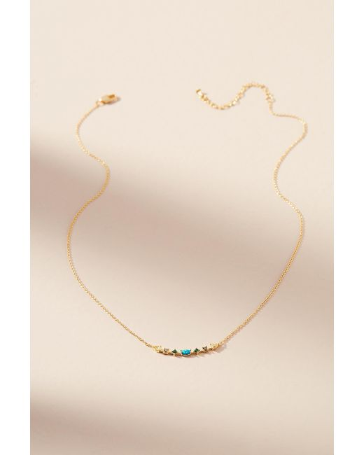 Anthropologie | Natural Delicate Rainbow Necklace | Lyst