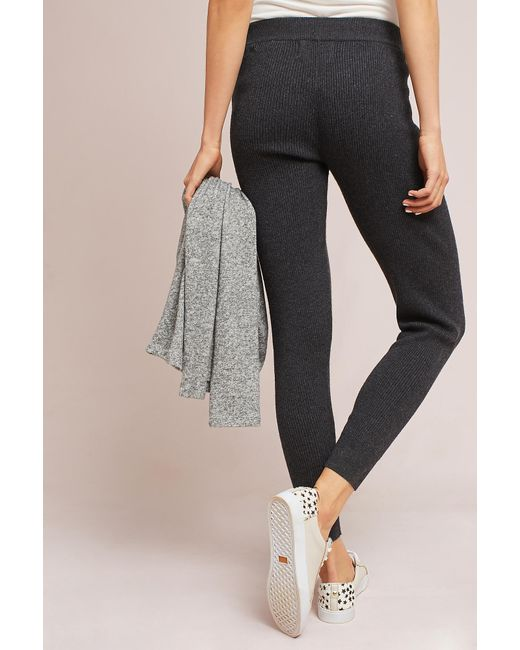 Hansel from basel Ribbed Sweater Leggings in Gray | Lyst