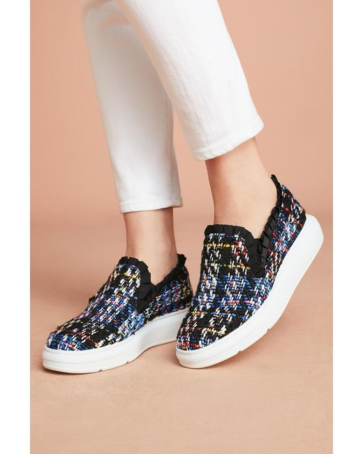 Anthropologie | Multicolor F-troupe Tweed Slip-on Trainers | Lyst