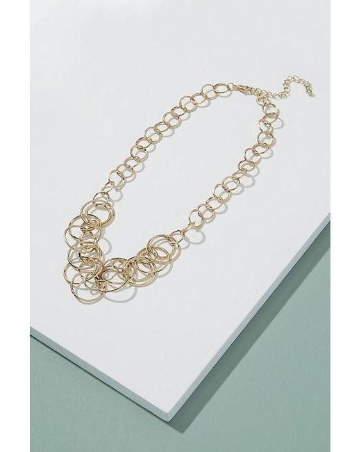 Anthropologie - Metallic Leona Circle-link Necklace - Lyst
