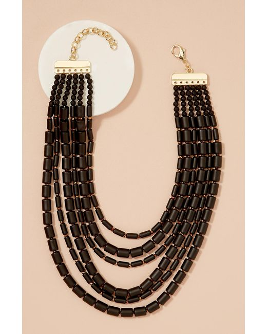 Anthropologie | Black Rushka Layered Bead Necklace | Lyst