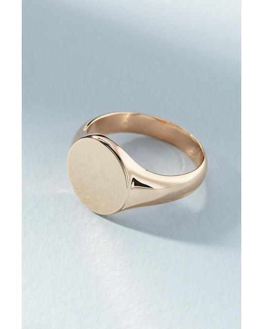 Melanie Auld - Metallic Round Signet Ring - Lyst