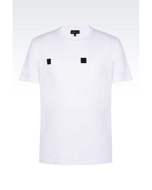 Emporio Armani   White Short-sleeve T-shirt for Men   Lyst