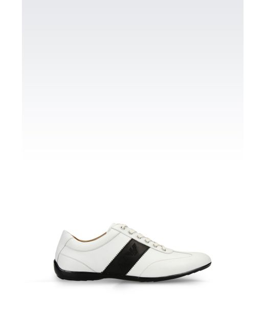 Armani Jeans | White Classic Leather Sneaker With Logo for Men | Lyst