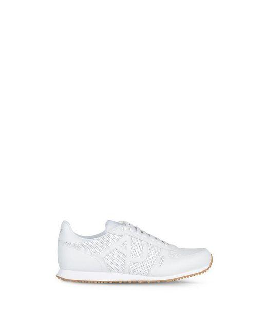 Armani Jeans   White Shoe   Lyst