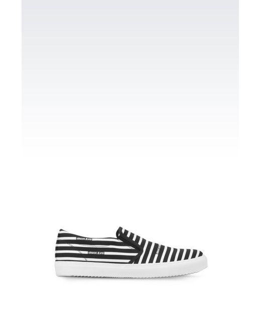 Armani Jeans | Blue Slip-on Shoes for Men | Lyst