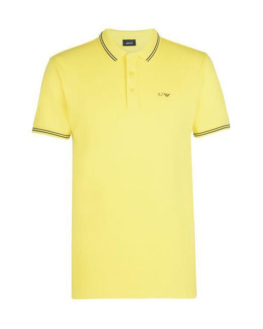 Armani Jeans | Yellow Short-sleeved Polo for Men | Lyst