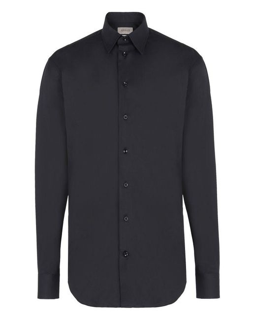 Armani | Black Long Sleeve Shirt for Men | Lyst