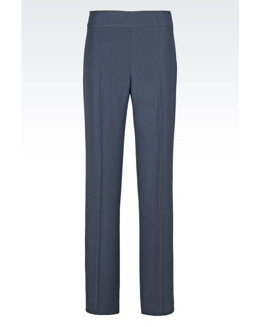 Armani   Gray Wide-leg Pant   Lyst
