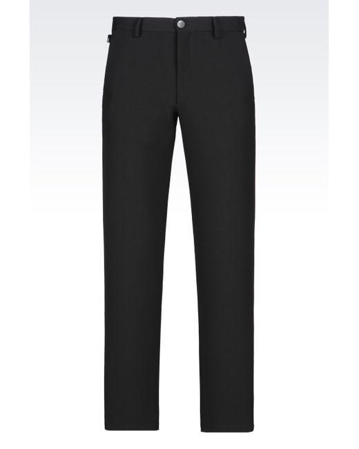 Armani   Black Straight Leg Trouser for Men   Lyst