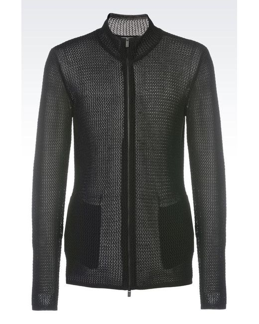 Emporio Armani | Black Cardigan for Men | Lyst