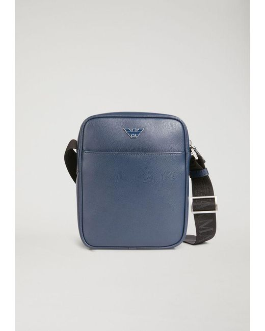 Emporio Armani - Blue Crossbody Bag for Men - Lyst ... d32ccb6e674bc