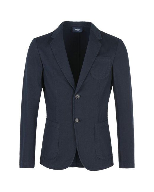 Armani Jeans | Blue Two Button Jacket for Men | Lyst