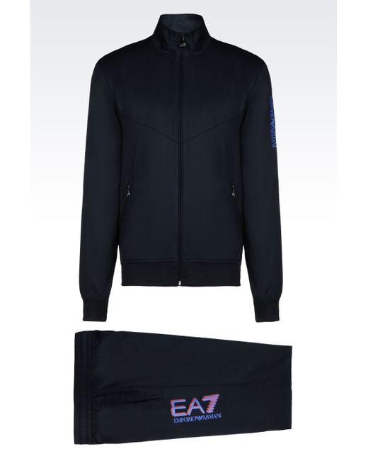 EA7   Blue Trouser for Men   Lyst