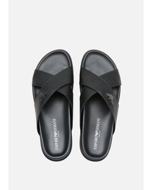 8c2d8cc5b ... Emporio Armani - Black Sandals for Men - Lyst ...