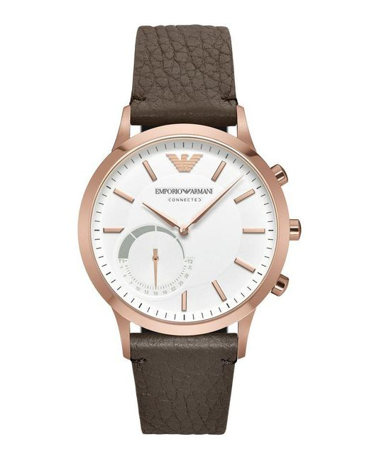Emporio armani Ea Connected Watches in Brown