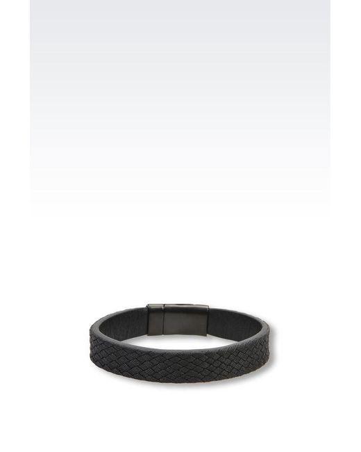 Emporio Armani | Black Bracelet | Lyst