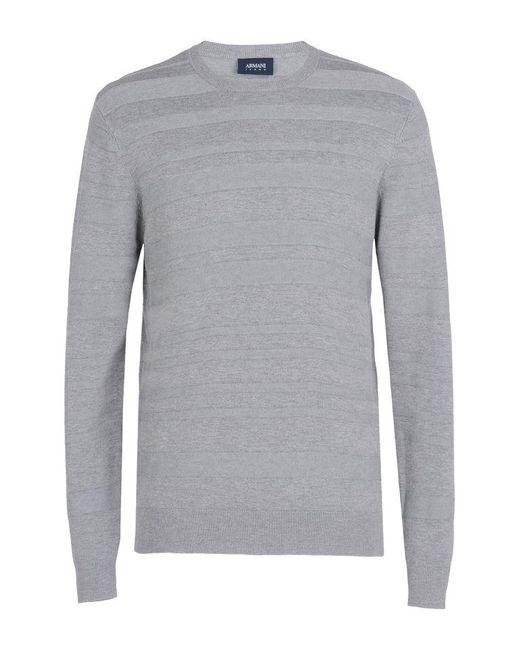Armani Jeans | Gray Crewneck Sweater for Men | Lyst