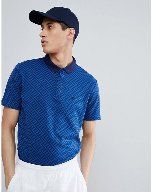 Gio Goi - Blue Polo Shirt With Logo In Navy for Men - Lyst