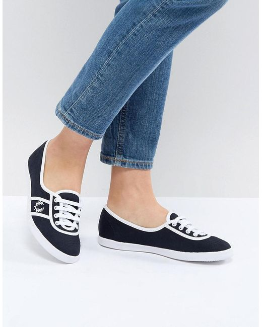 Fred Perry - Blue Aubrey Colour Block Plimsoll Trainers - Lyst