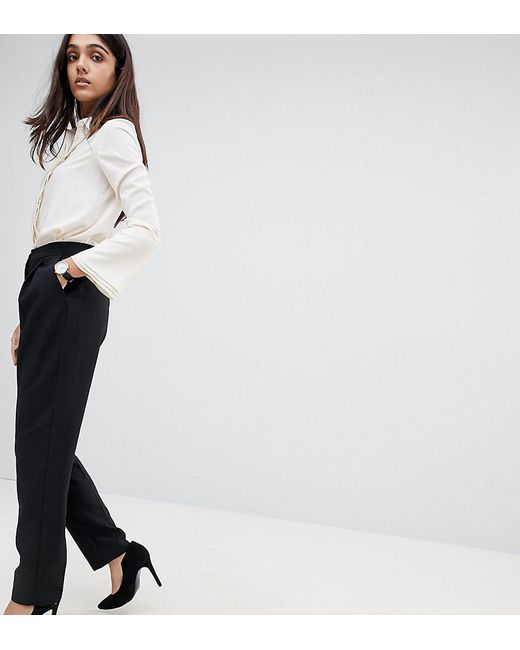 ASOS - Black Elasticated Clean Tapered Pant - Lyst