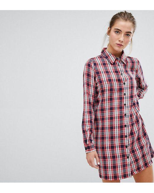 8f712ff8b567c Robe chemise à carreaux vintage Daisy Street en coloris Rouge - Lyst