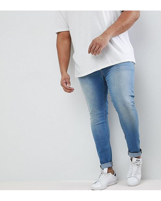 ca48b0a0e ASOS - Blue Asos Plus Extreme Super Skinny Jeans In Light Wash for Men -  Lyst ...