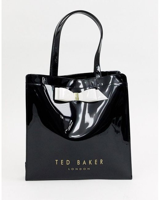 1bcd390d762a2 Ted Baker - Black Almacon Bow Large Icon Bag - Lyst ...