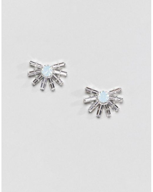 Krystal London - Blue Swarovski Crystal Starburst Stud Earrings - Lyst