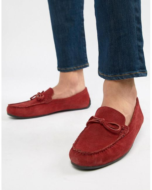 KG by Kurt Geiger - Kg By Kurt Geiger Driving Shoes In Red Suede for Men - Lyst