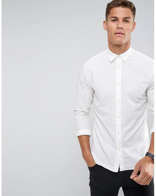SELECTED - White Slim Oxford Shirt for Men - Lyst