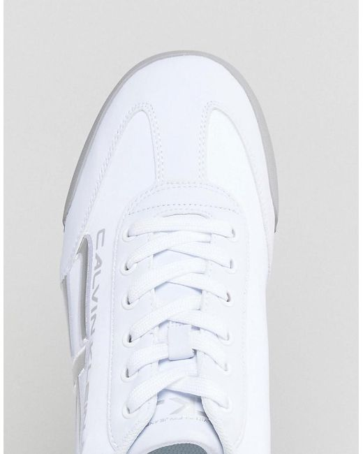 Cale Jeans Logo Trainers - White Calvin Klein 2018 Online Fake Online Low Shipping Fee Cheap Price Wide Range Of Sale Online Cheap Sale Wiki V76hN2XlNC