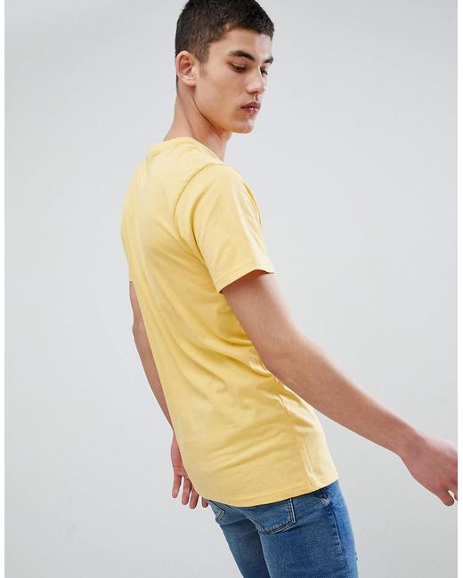Shopping Online Nicce t-shirt in yellow with split logo - Yellow Nicce London Very Cheap Sale Online 2018 GLAlU