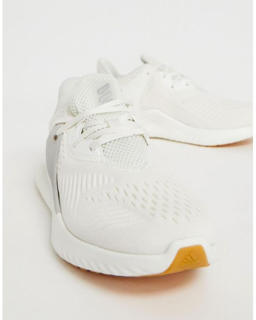eba070370 Lyst - adidas Running Alphabounce Trainers In White in White