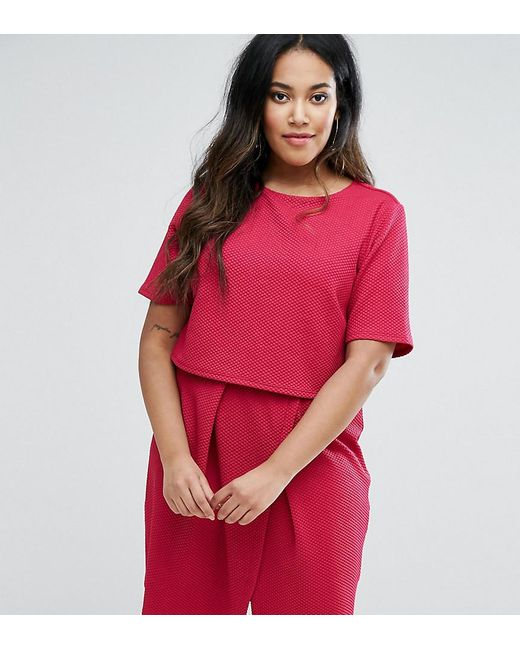 ASOS | Pink Double Layer Textured Mini Wiggle Dress | Lyst