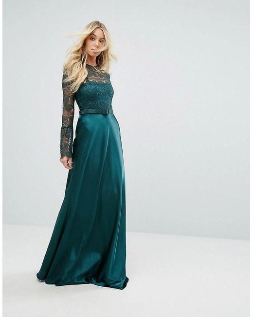 Maxi dress long sleeve lace