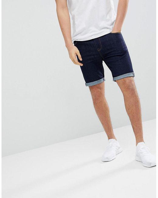 ASOS - Blue Denim Shorts In Super Skinny Indigo for Men - Lyst