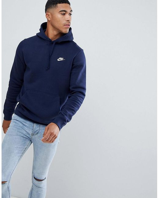 edfde5edb Nike - Pullover Hoodie With Swoosh Logo In Blue 804346-451 for Men - Lyst  ...