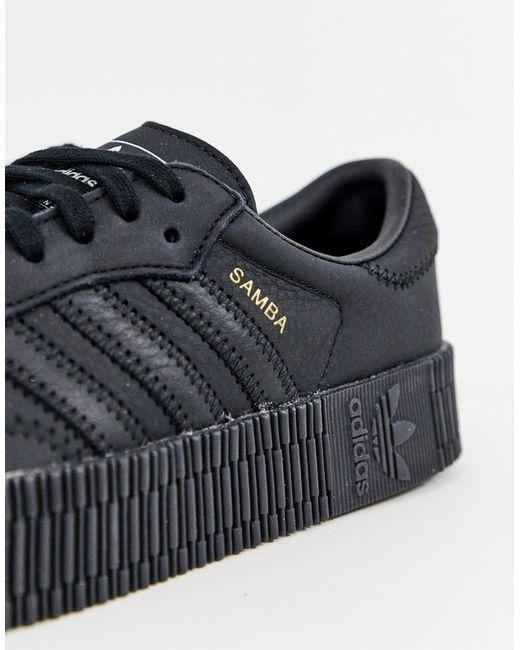 adidas sambarose schwarz