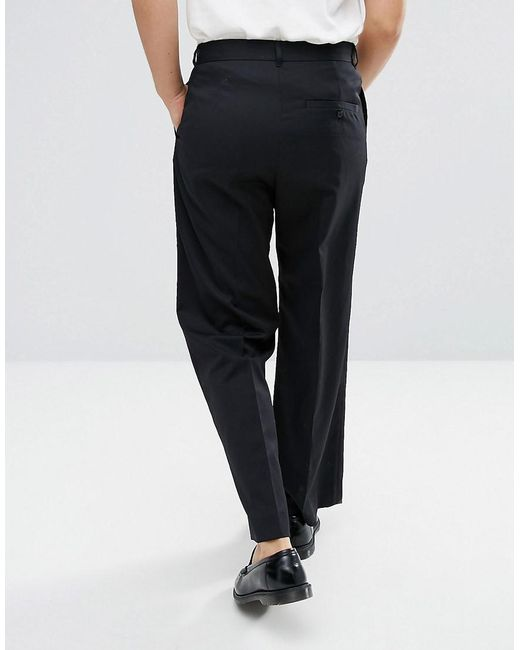 3b3b133029a1 ... Weekday - Black Orb Trousers for Men - Lyst