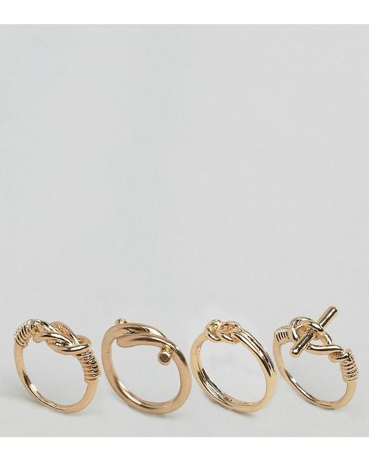 ALDO | Metallic Knotted Band Stacking Rings | Lyst