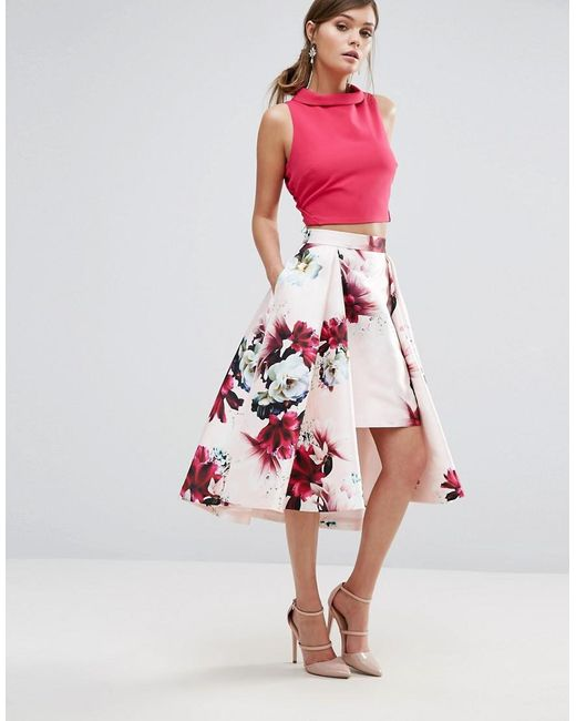 Coast | Pink Toulouse Printed Skirt | Lyst